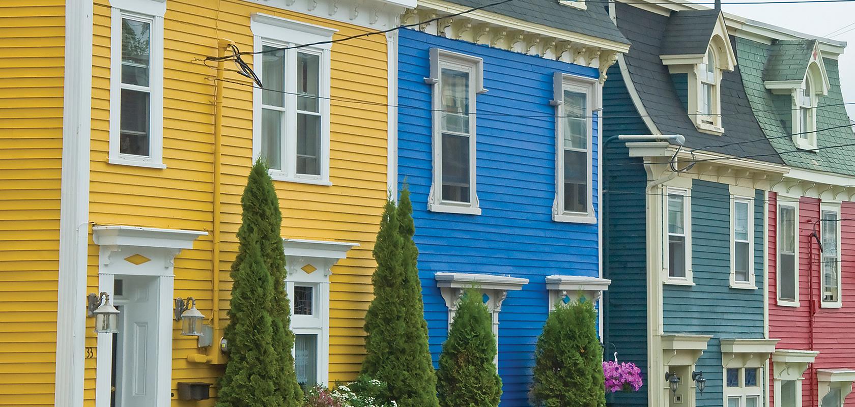 st. john's houses street scene