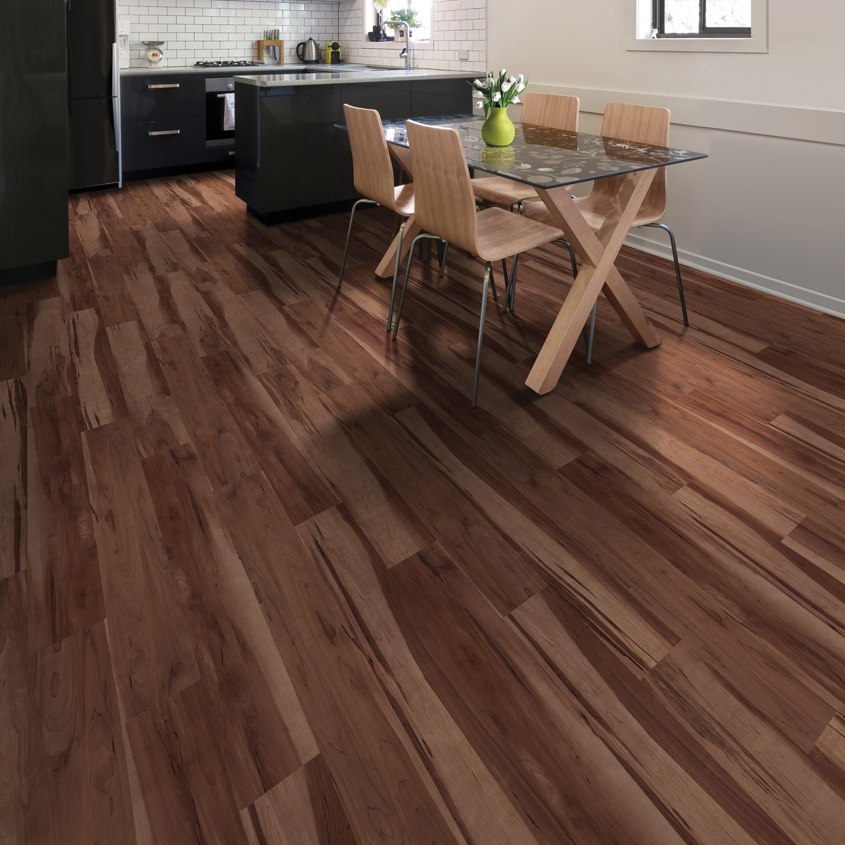 Care Free Sheet Vinyl Flooring Is Perfect For Kitchens It: Presslock Plank