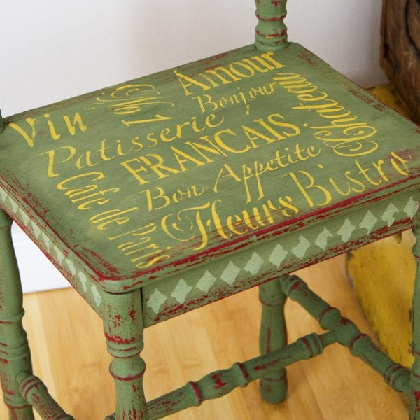 stencilled chair