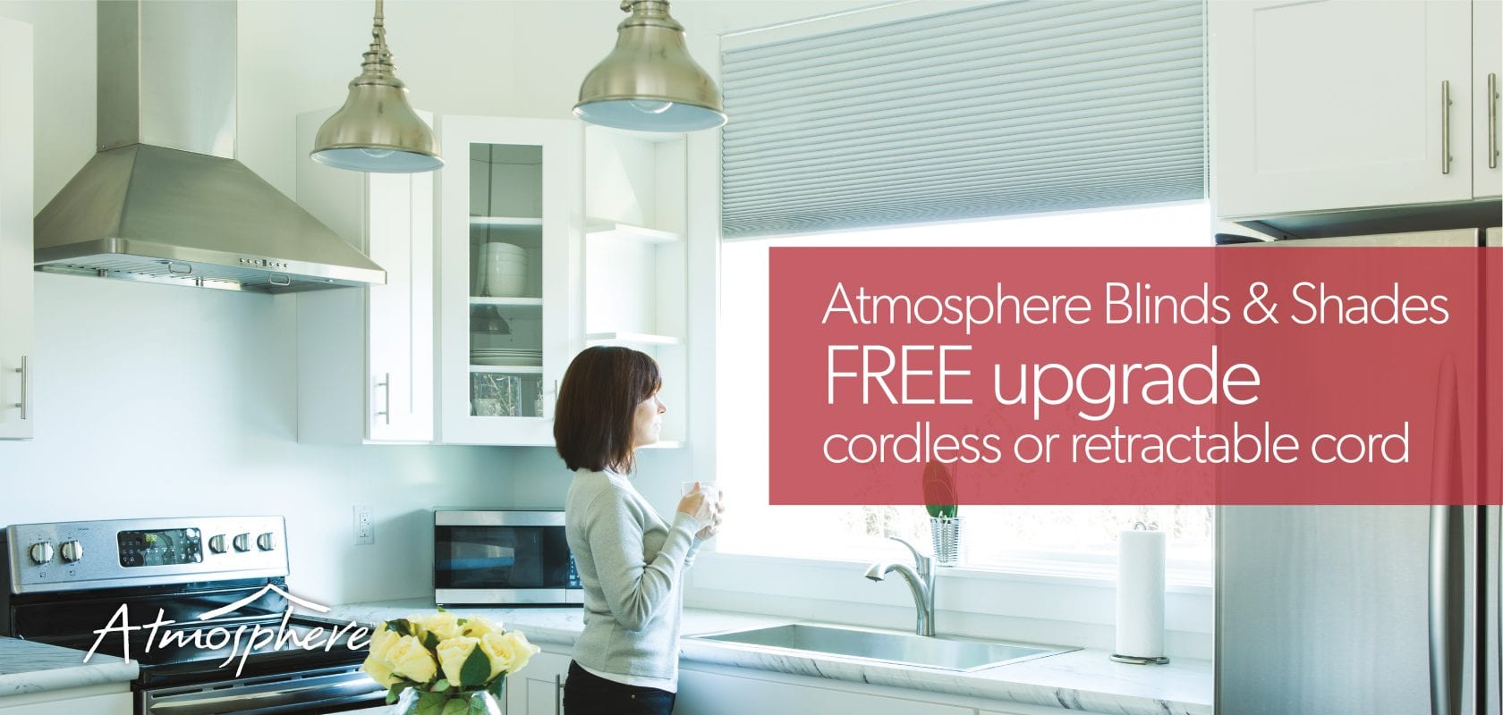 FREE cordless on Atmosphere blinds