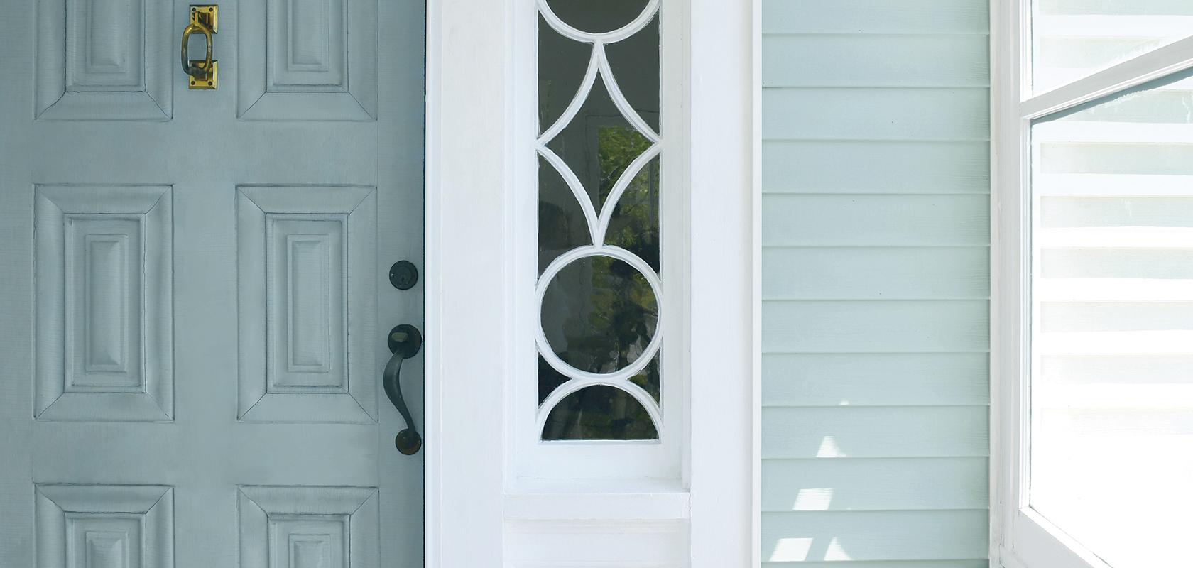 image of door and vinyl siding