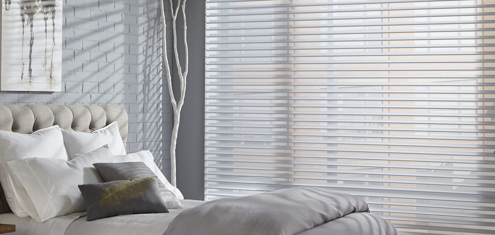 Image of bedroom with sheerluxe blinds