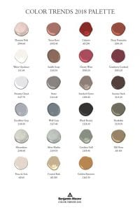 Benjamin Moore Colour Trends Poster