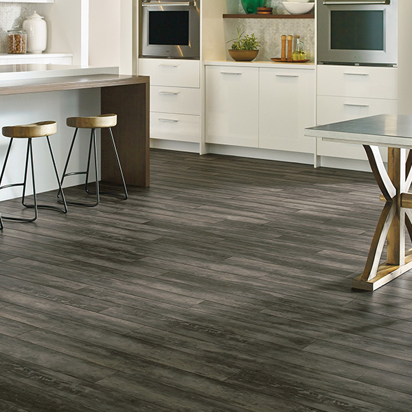 Concrete Gotham City Waterproof Plank Flooring room scene