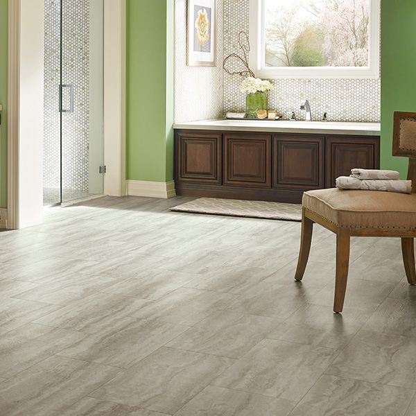 Piazza Travertine Dovetail waterproof tile flooring room