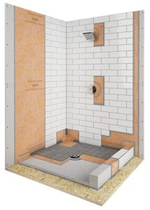 schluter shower system installed
