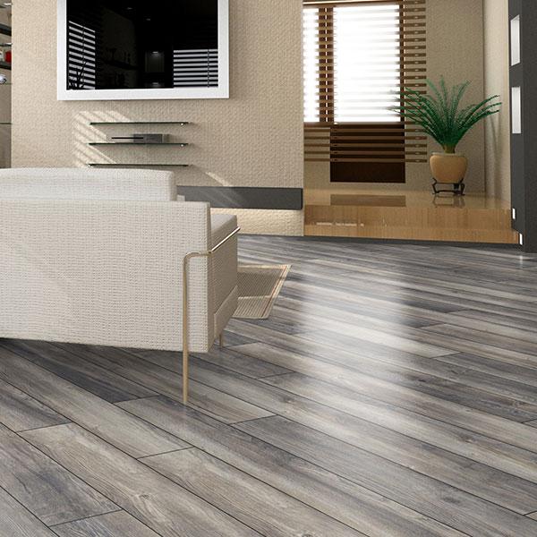 grey harbour oak laminate flooring room scene