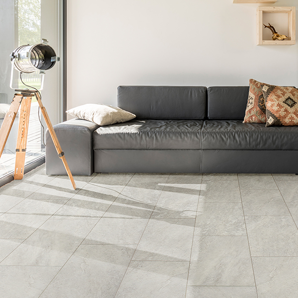 massa carrara waterproof tile flooring room scene