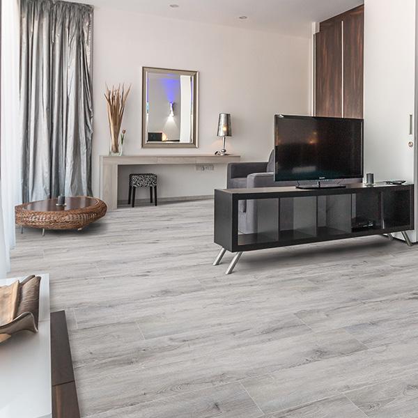 granite grey waterproof plank flooring room scene