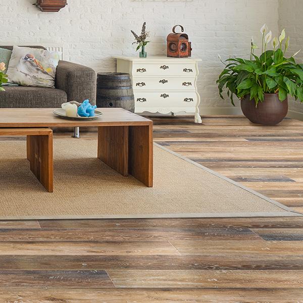vineyard oak waterproof plank flooring room scene