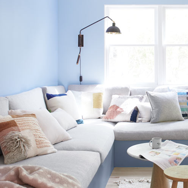 Room Scene with Benjamin Moore Colour Trends 2020 Windmill Wings