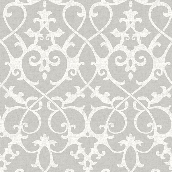 ironworks grey wallpaper