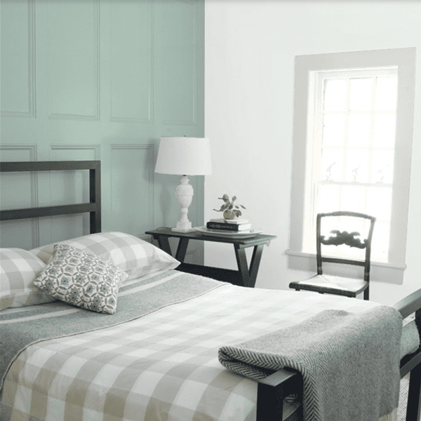 Tip: The bedroom should be a place of refuge and serenity – use the colors that give you the most peace.