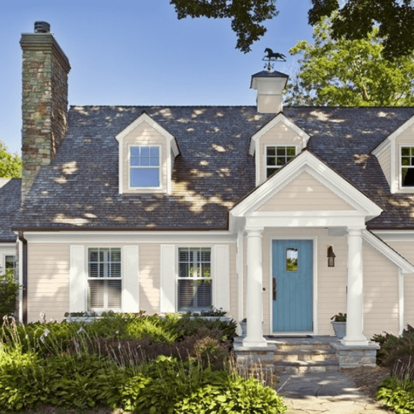 Tip: Dark Colors on a home's exterior make the structure appear larger; Lighter Shades make the structure appear smaller!