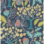 groovy garden navy wallpaper swatch