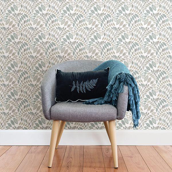 room scene with gustavus wallpaper