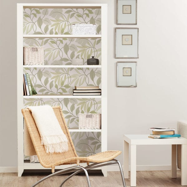 room scene with meadow neutral wallpaper