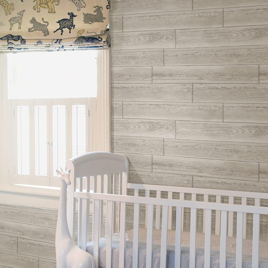 room scene with serene cream wallpaper