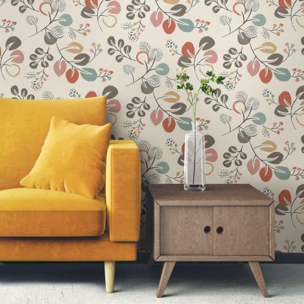 room scene with astrilde wallpaper