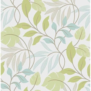 meadow blue green wallpaper swatch
