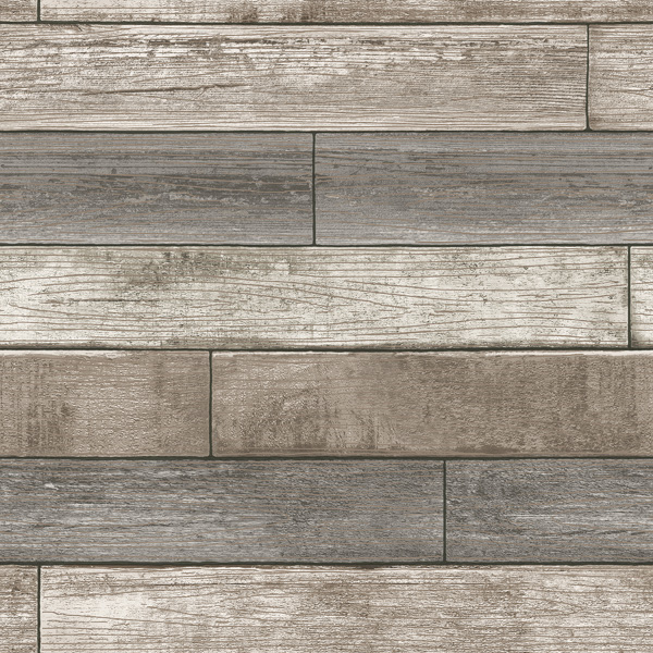 reclaimed wood plank natural wallpaper swatch