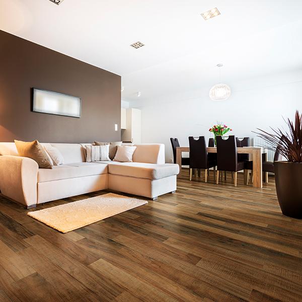 caramel laminate flooring room scene
