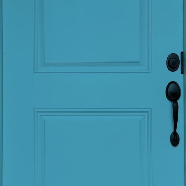cool blue door paint