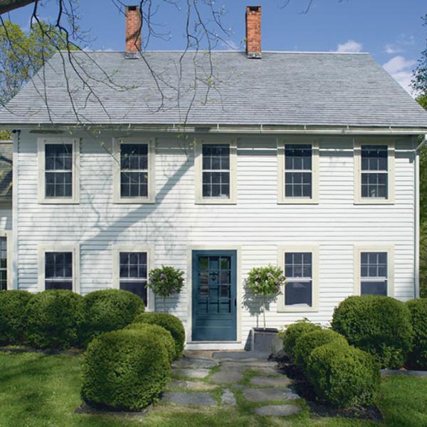 Gray Paint Color Palette: Stonington Gray Exterior House Paint
