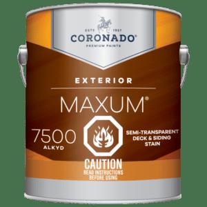 maxum 7500 semi-transparent exterior stain can
