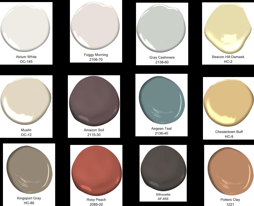 2021 Colour Trends palette