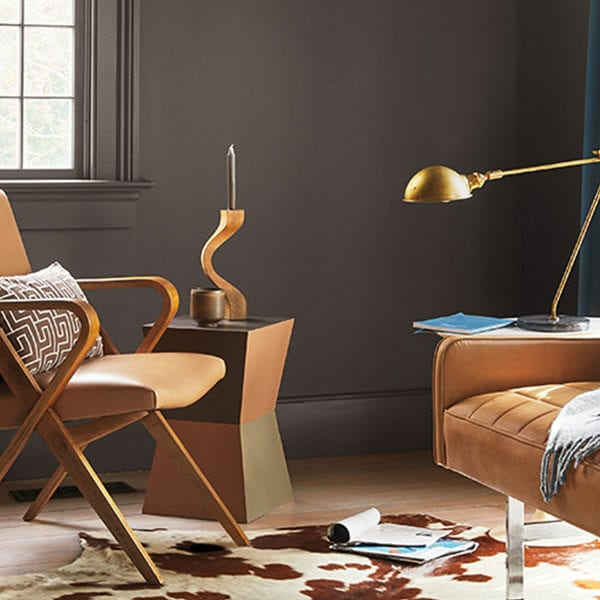 Room Scene with Benjamin Moore Colour Trends 2021 Silhouette
