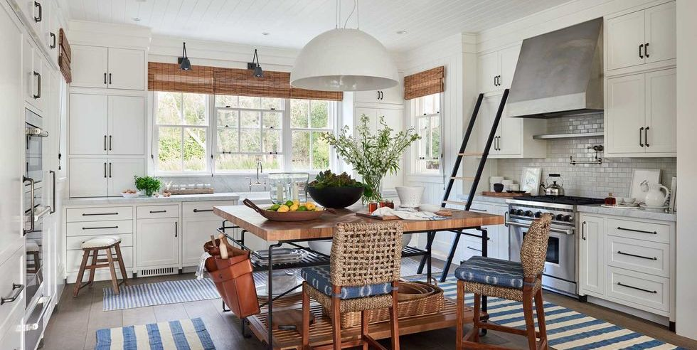 kitchen show farmhouse modern design