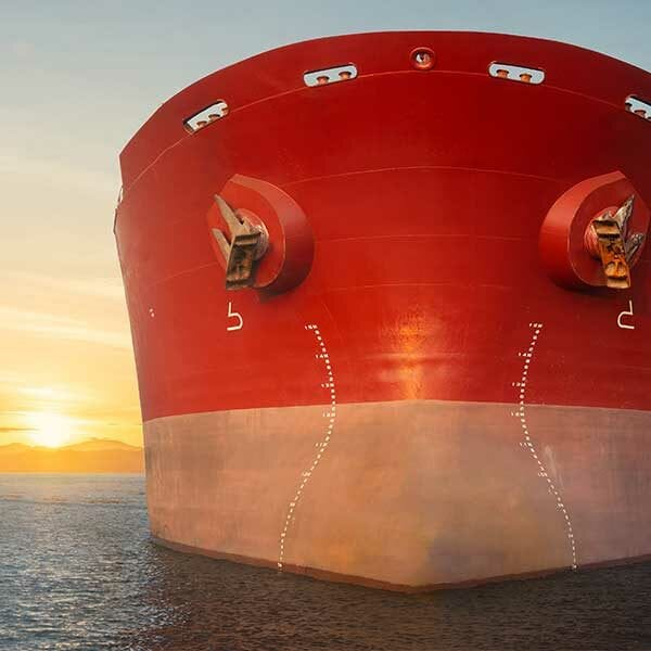 ship's underwater hull