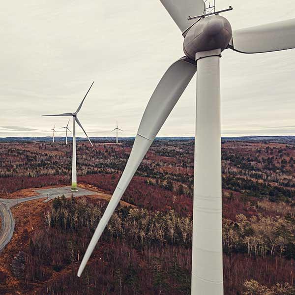 image of wind power turbines