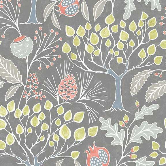 groovy garden gray wallpaper sample